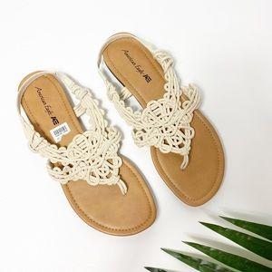 American Eagle Beige Women Sandals